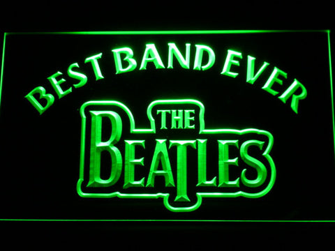 The Beatles Best Band Ever LED Neon Sign - Green - SafeSpecial