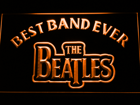 The Beatles Best Band Ever LED Neon Sign - Orange - SafeSpecial
