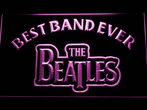 The Beatles Best Band Ever LED Neon Sign - Purple - SafeSpecial