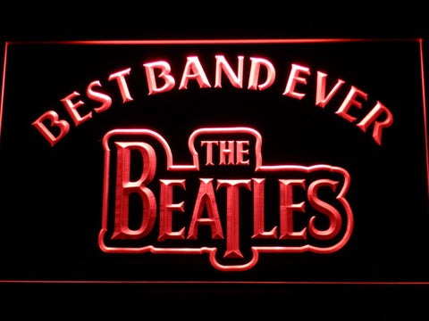 The Beatles Best Band Ever LED Neon Sign - Red - SafeSpecial