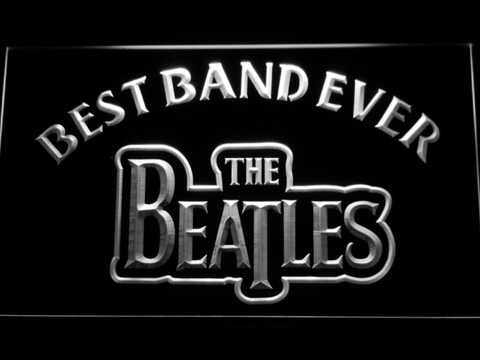 The Beatles Best Band Ever LED Neon Sign - White - SafeSpecial
