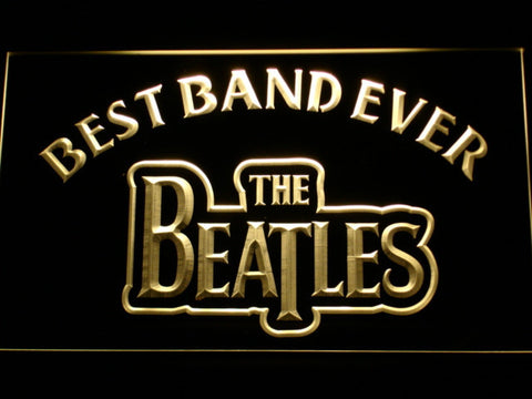 The Beatles Best Band Ever LED Neon Sign - Yellow - SafeSpecial