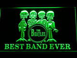 The Beatles Drum Best Band Ever LED Neon Sign - Green - SafeSpecial