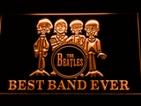 The Beatles Drum Best Band Ever LED Neon Sign - Orange - SafeSpecial