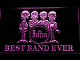 The Beatles Drum Best Band Ever LED Neon Sign - Purple - SafeSpecial