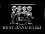The Beatles Drum Best Band Ever LED Neon Sign - White - SafeSpecial