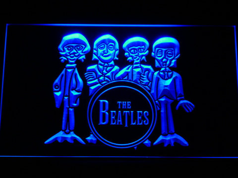The Beatles Drum LED Neon Sign - Blue - SafeSpecial