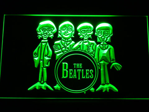 Image of The Beatles Drum LED Neon Sign - Green - SafeSpecial