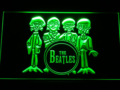 The Beatles Drum LED Neon Sign - Green - SafeSpecial