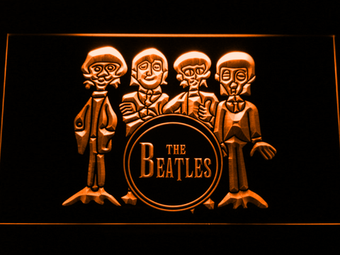 Image of The Beatles Drum LED Neon Sign - Orange - SafeSpecial