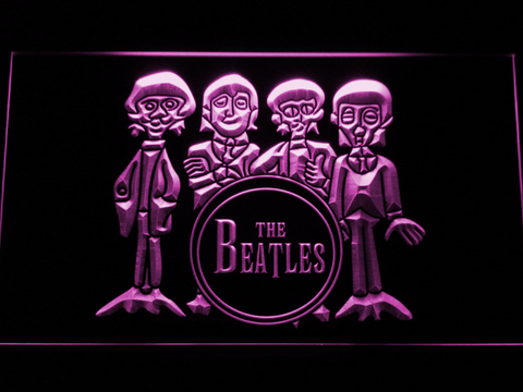 Image of The Beatles Drum LED Neon Sign - Purple - SafeSpecial