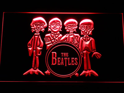 The Beatles Drum LED Neon Sign - Red - SafeSpecial