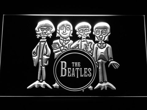 Image of The Beatles Drum LED Neon Sign - White - SafeSpecial
