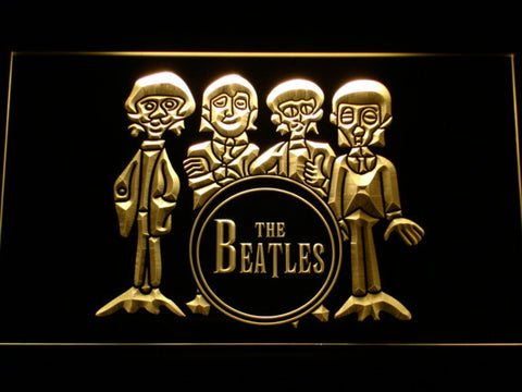 The Beatles Drum LED Neon Sign - Yellow - SafeSpecial