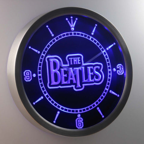 The Beatles LED Neon Wall Clock - Blue - SafeSpecial