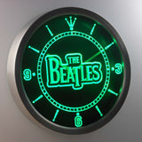 The Beatles LED Neon Wall Clock - Green - SafeSpecial