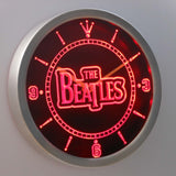 The Beatles LED Neon Wall Clock - Red - SafeSpecial