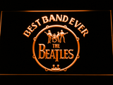 The Beatles Logo in Bass Drum Best Band Ever LED Neon Sign - Orange - SafeSpecial