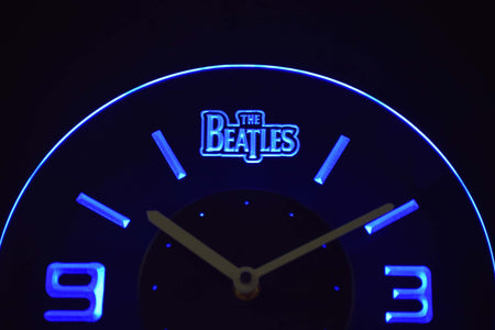 The Beatles Modern LED Neon Wall Clock - Blue - SafeSpecial