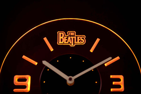 The Beatles Modern LED Neon Wall Clock - Yellow - SafeSpecial