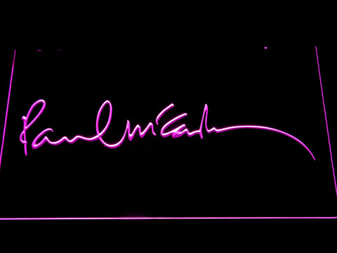 The Beatles Paul McCartney Signature LED Neon Sign - Purple - SafeSpecial