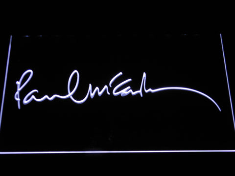 The Beatles Paul McCartney Signature LED Neon Sign - White - SafeSpecial