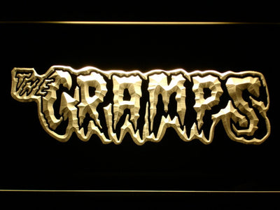 The Cramps LED Neon Sign - Yellow - SafeSpecial