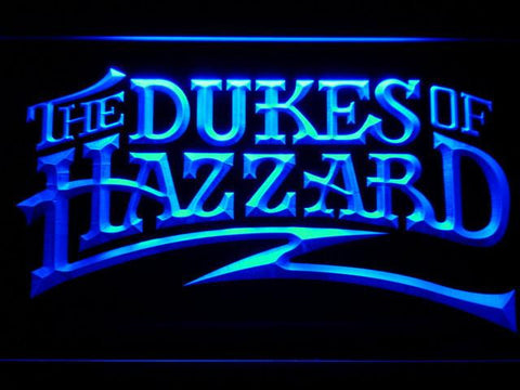 Image of The Dukes Of Hazzard LED Neon Sign - Blue - SafeSpecial