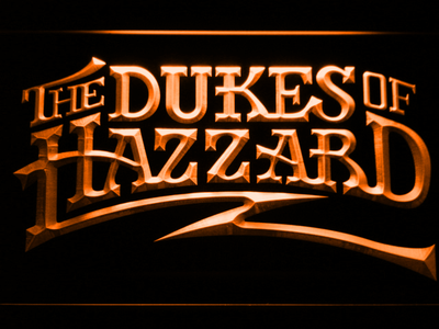 The Dukes Of Hazzard LED Neon Sign - Orange - SafeSpecial