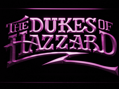 The Dukes Of Hazzard LED Neon Sign - Purple - SafeSpecial