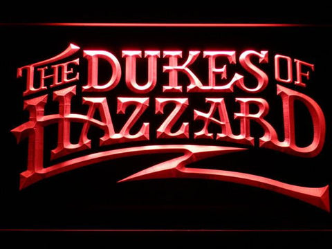 Image of The Dukes Of Hazzard LED Neon Sign - Red - SafeSpecial