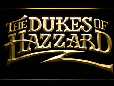 The Dukes Of Hazzard LED Neon Sign - Yellow - SafeSpecial