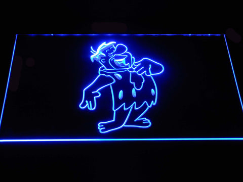 Image of The Flintsones Fred LED Neon Sign - Blue - SafeSpecial