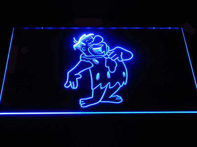 The Flintsones Fred LED Neon Sign - Blue - SafeSpecial