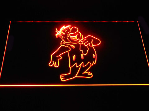 Image of The Flintsones Fred LED Neon Sign - Orange - SafeSpecial