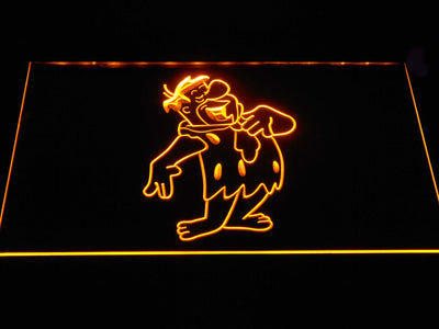 The Flintsones Fred LED Neon Sign - Yellow - SafeSpecial