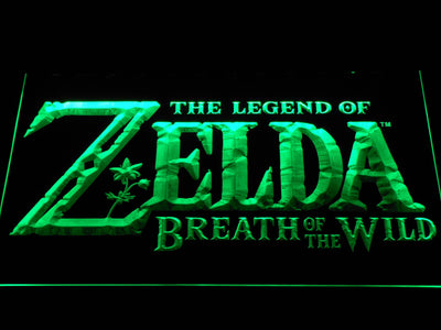 The Legend of Zelda Breath of the Wild LED Neon Sign - Green - SafeSpecial