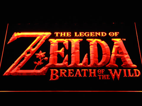 Image of The Legend of Zelda Breath of the Wild LED Neon Sign - Orange - SafeSpecial
