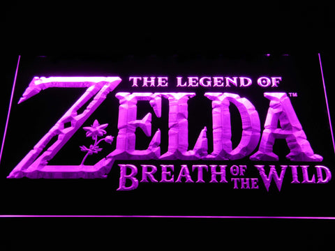 Image of The Legend of Zelda Breath of the Wild LED Neon Sign - Purple - SafeSpecial