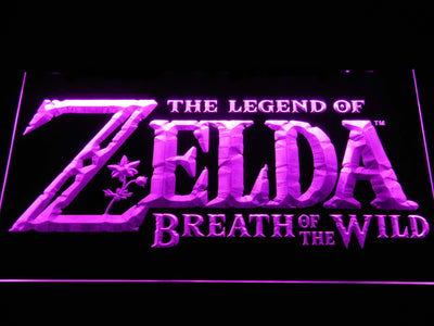 The Legend of Zelda Breath of the Wild LED Neon Sign - Purple - SafeSpecial