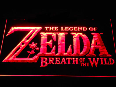 The Legend of Zelda Breath of the Wild LED Neon Sign - Red - SafeSpecial