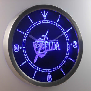 The Legend of Zelda LED Neon Wall Clock - Blue - SafeSpecial