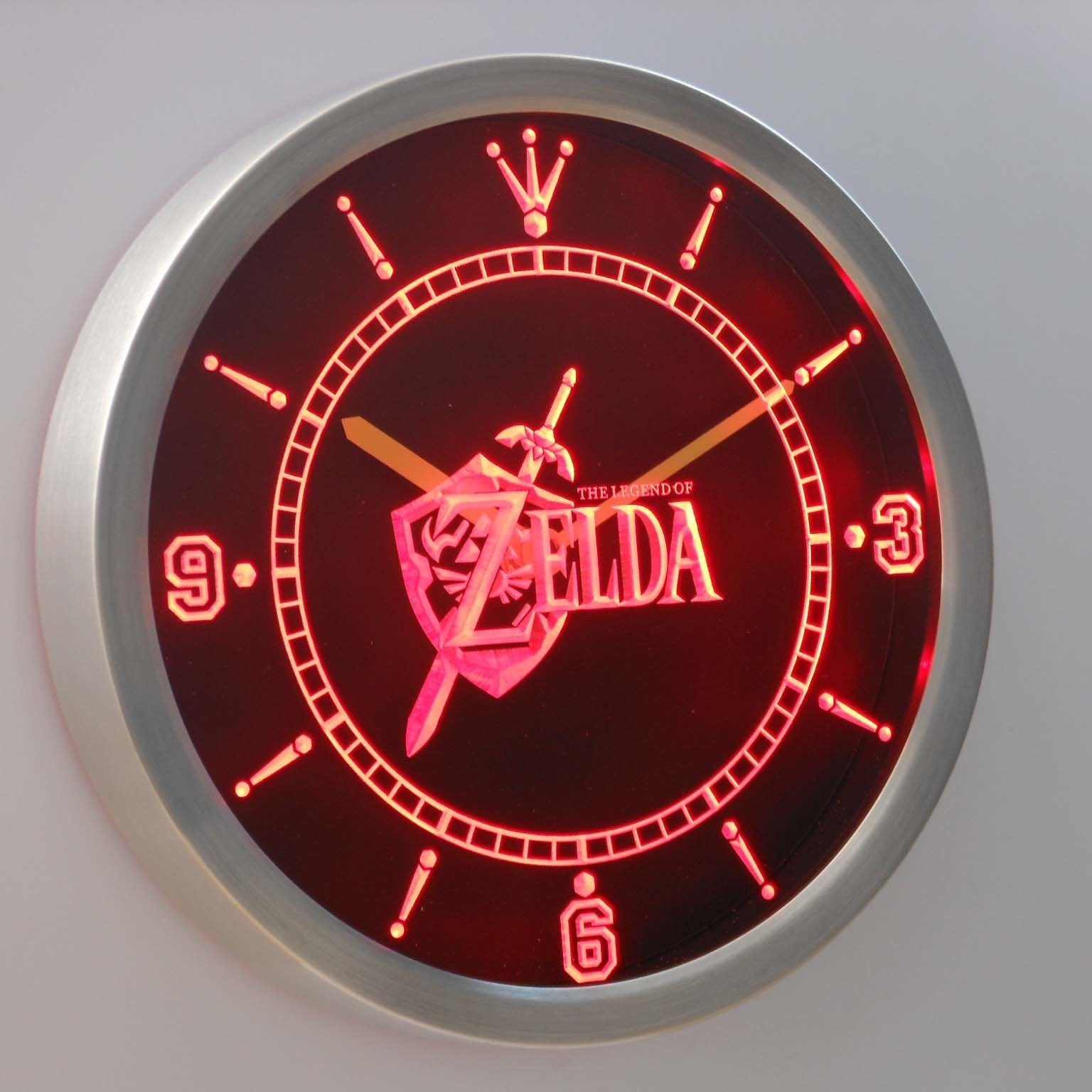 The Legend Of Zelda Led Neon Wall Clock Safespecial