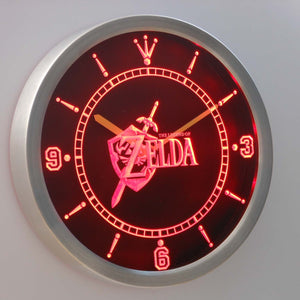 The Legend of Zelda LED Neon Wall Clock - Red - SafeSpecial