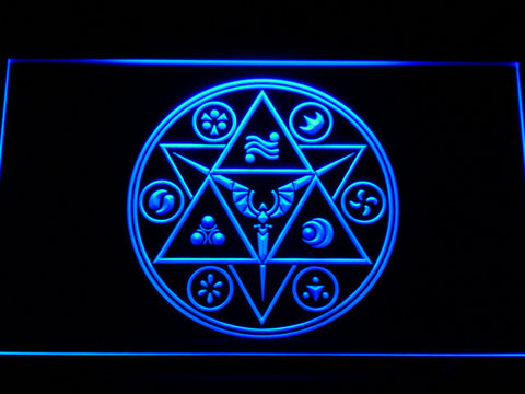 Image of The Legend of Zelda Ocarina of Time LED Neon Sign - Blue - SafeSpecial