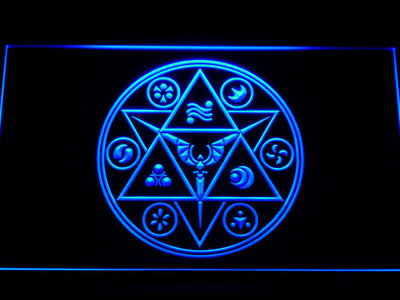 The Legend of Zelda Ocarina of Time LED Neon Sign - Blue - SafeSpecial