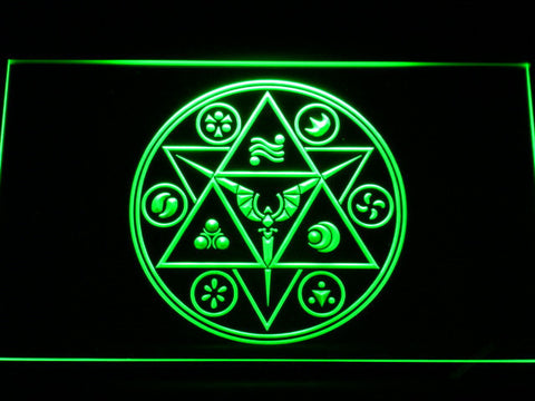 Image of The Legend of Zelda Ocarina of Time LED Neon Sign - Green - SafeSpecial