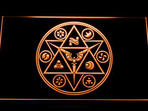 Image of The Legend of Zelda Ocarina of Time LED Neon Sign - Orange - SafeSpecial