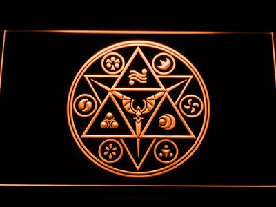 The Legend of Zelda Ocarina of Time LED Neon Sign - Orange - SafeSpecial