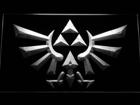 Image of The Legend of Zelda Triforce LED Neon Sign - White - SafeSpecial